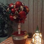 Drzewko stroik świąteczny