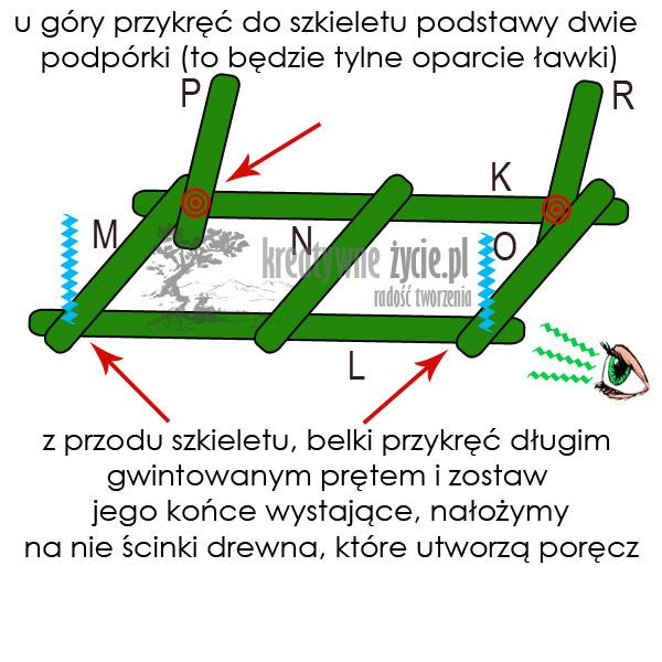 Projekt ławka huśtawki
