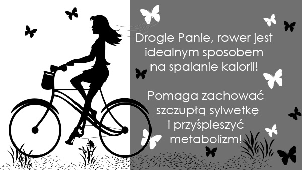 Kobieta na rowerze