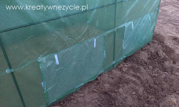 tunel folia wywietrzniki