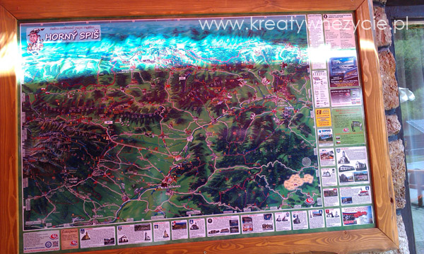 Malowana mapa Pienin