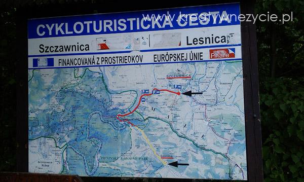 Mapa szlaku Droga Pienińska