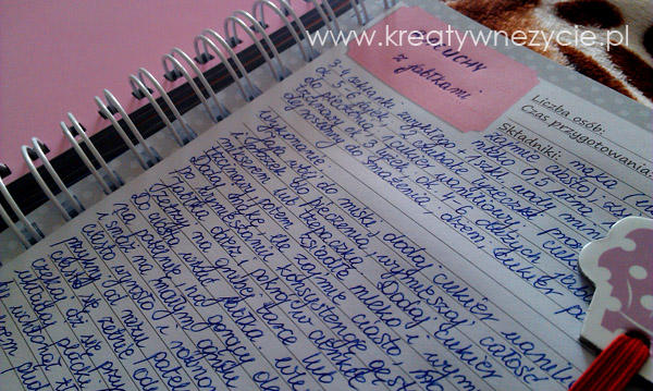 Przepis notes kuchenny