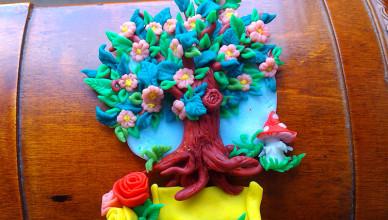 Drzewko szczęścia z modeliny