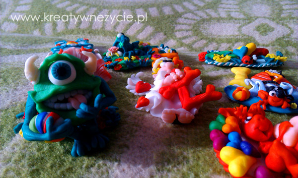 Litery polymer clay