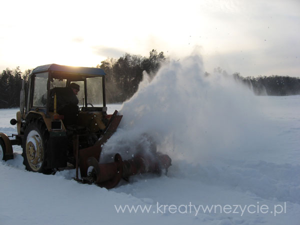 Dmuchawa do śniegu samoróbka