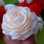 Jak zrobić kosz róż z krepy?