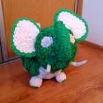 Jak zrobić słonia z róż z krepy