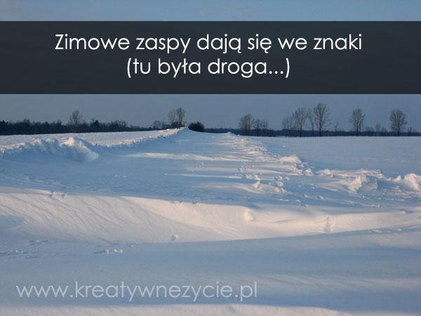 Zimowe zaspy