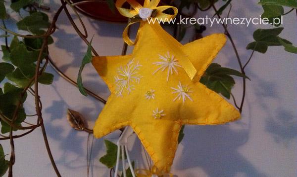 Ozdoby z filcu gwiazda