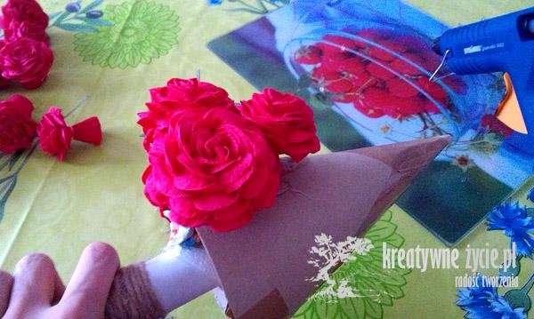 Choinka z róż jak ją zrobić
