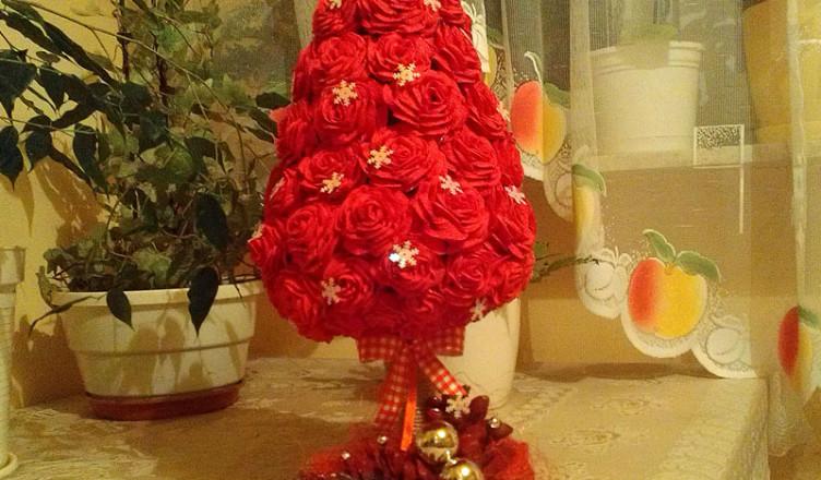 Choinka z róż