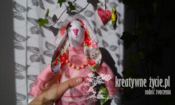 Królik Tilda różowy