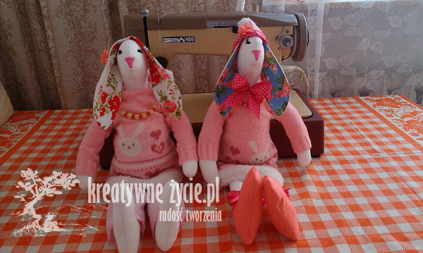 Króliki Tilda różowe