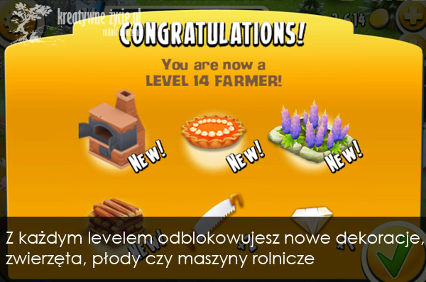 Hay day lvl up