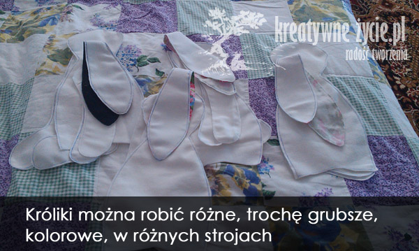 Wykroje królików tilda