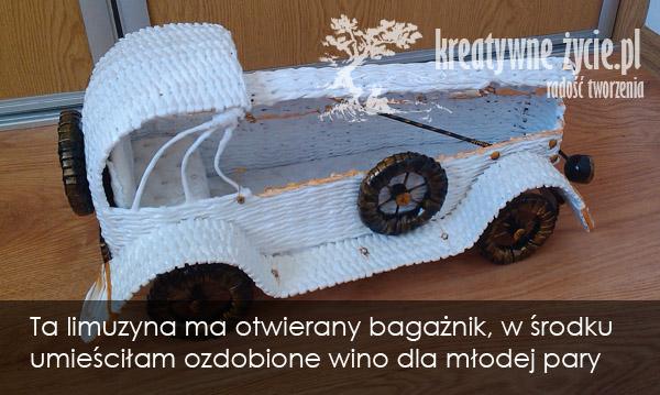 Auto z papieru rękodzieło