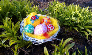 Dekoracja Wielkanocna gniazdo