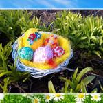 Stroik Wielkanocny gniazdo pisanek