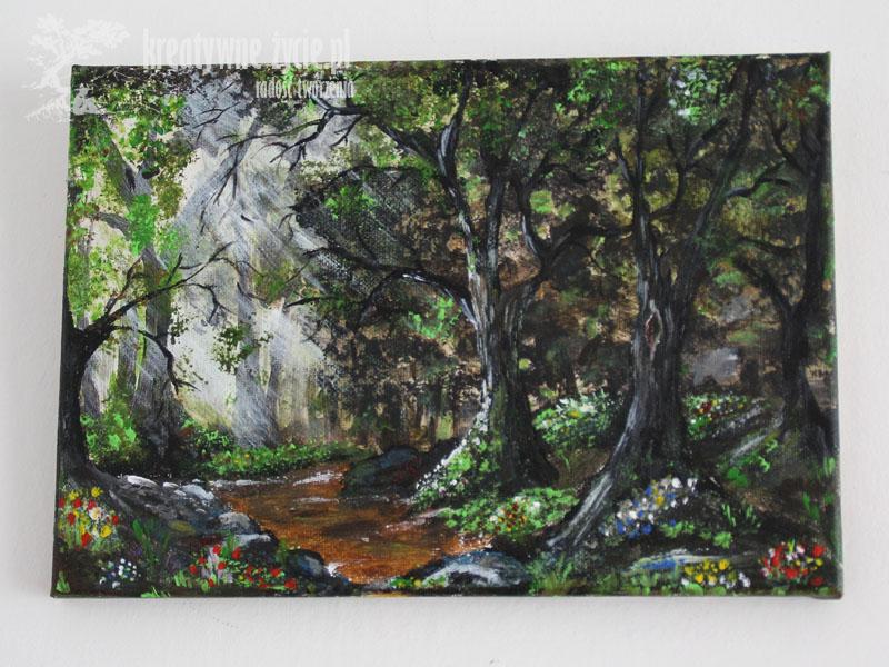 Obraz akrylowy las