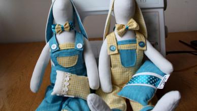 Zajączki Tilda dla bliźniaków