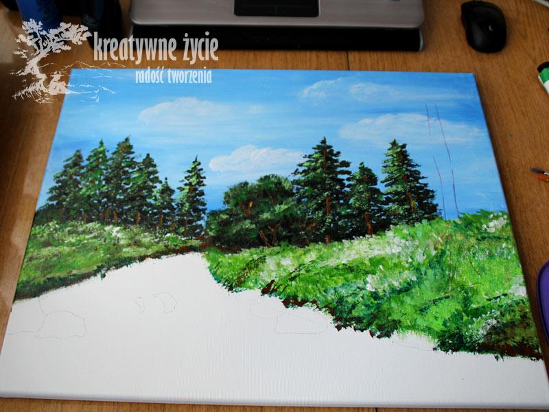 Malowanie akrylami pejzaż