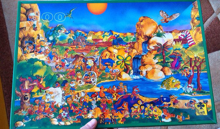 Puzzle Jaskiniowcy Trefl 600 części