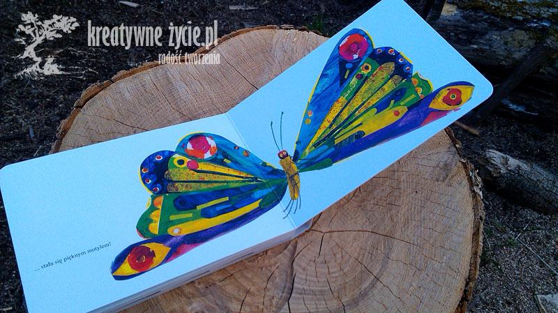 Głodna gąsienica motyl
