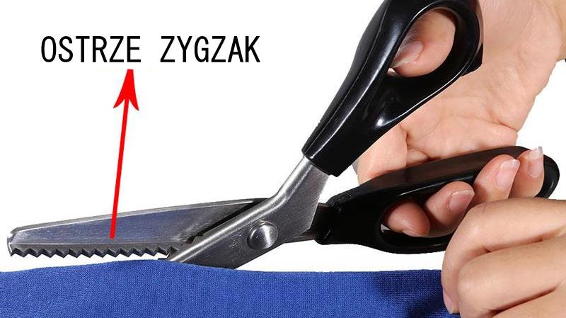 Nożyce zygzak ostre