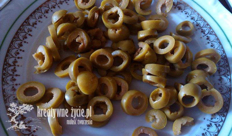 Calzone składniki oliwki