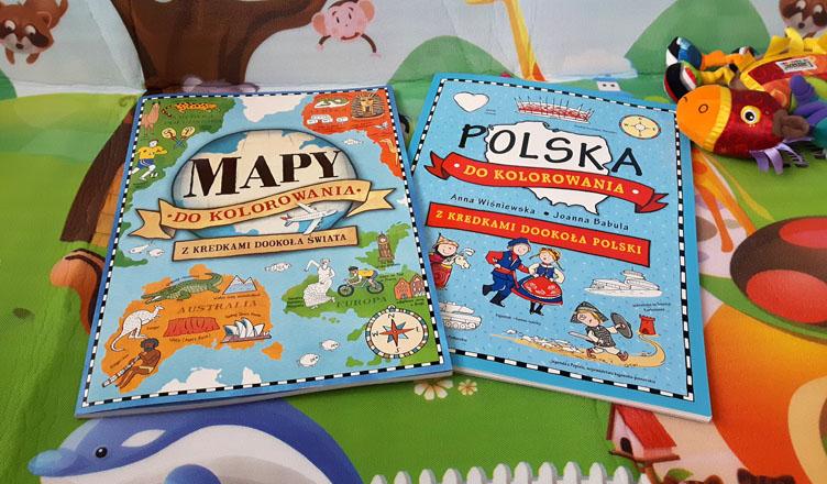 Mapy świata Polski do kolorowania Olesiejuk