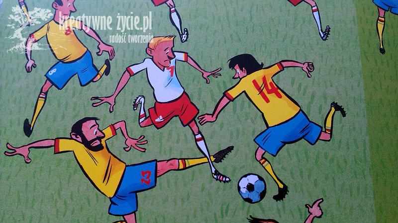 Piłkarze ilustracja