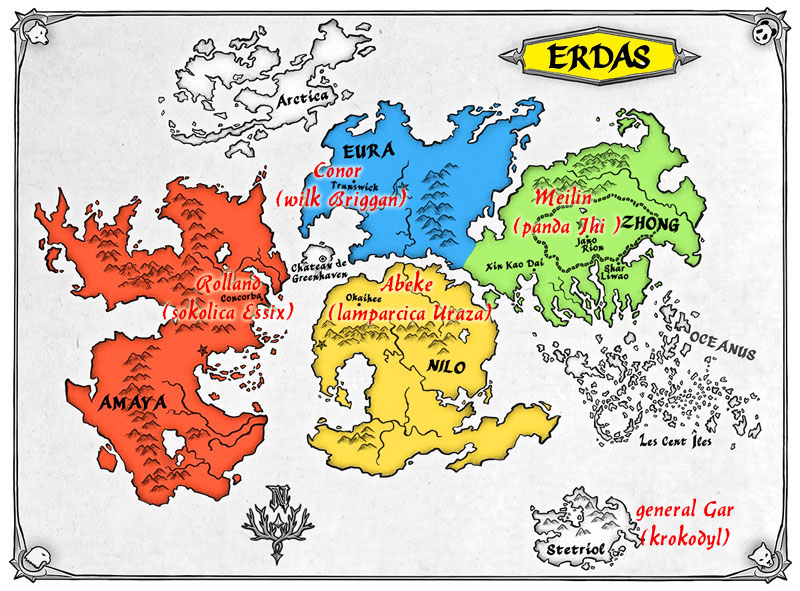 Spirit Animals Mapa Erdas