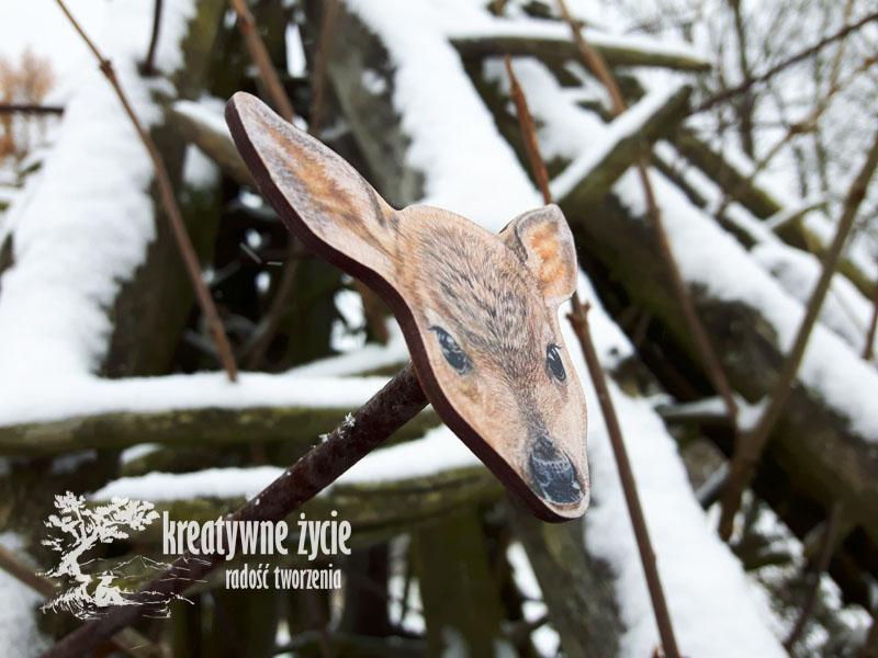 Magnesy zwierzęta leśne od Puls Art sarna