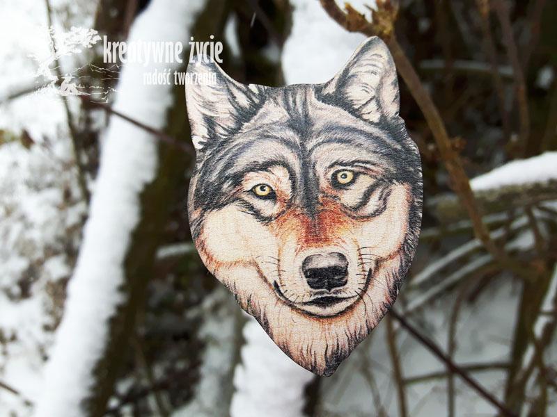 Magnesy zwierzęta leśne od Puls Art wilk