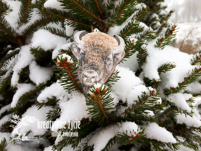 Magnesy zwierzęta leśne od Puls Art żubr
