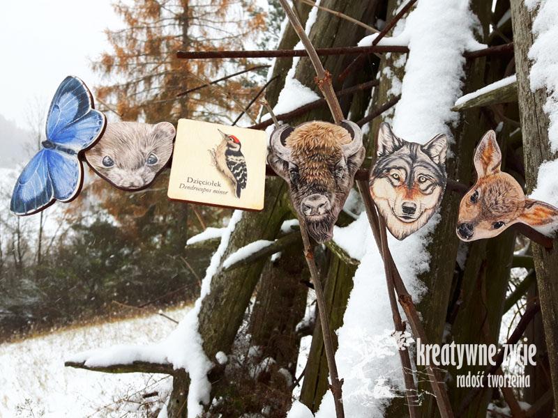 Magnesy zwierzęta leśne od Puls Art