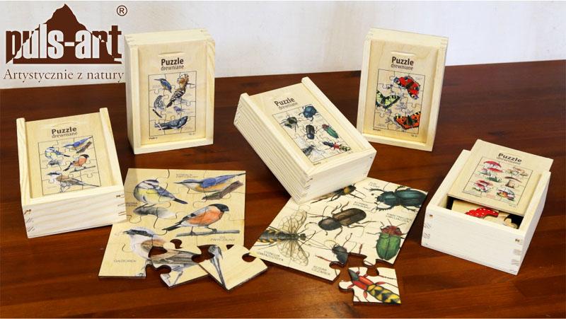 Drewniane puzzle edukacyjne od Puls Art