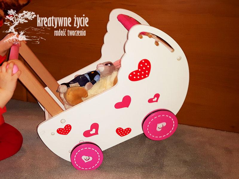 Wózek dla lalek z drewna Eco Toys