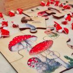 Edukacyjne drewniane puzzle dla dzieci