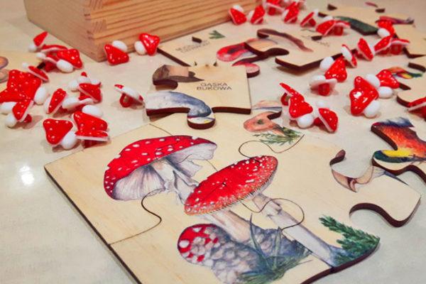 Puzzle drewniane Puls Art grrzyby trujące