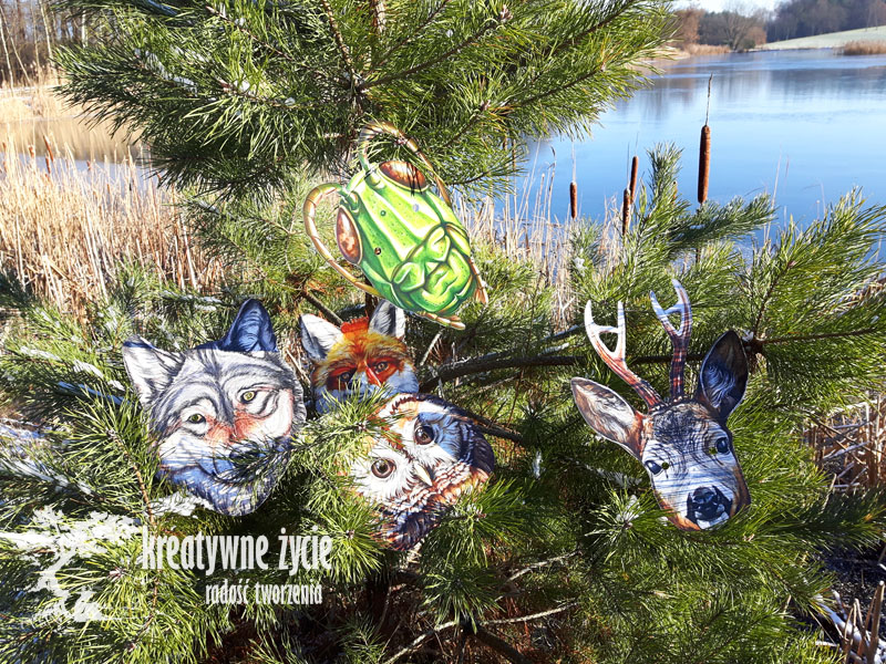 Maski zwierząt leśnych