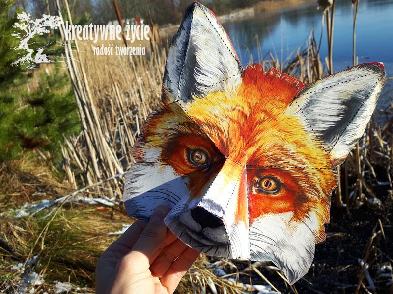 Maska dla dzieci lisek