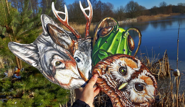 Maski ze zwierzętami Puls Art