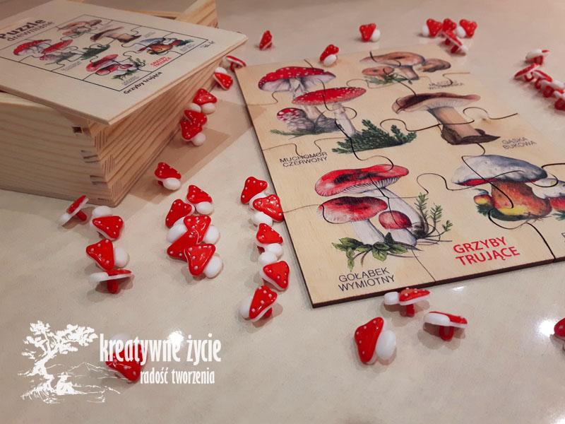 Puzzle grzyby trujące Puls Art