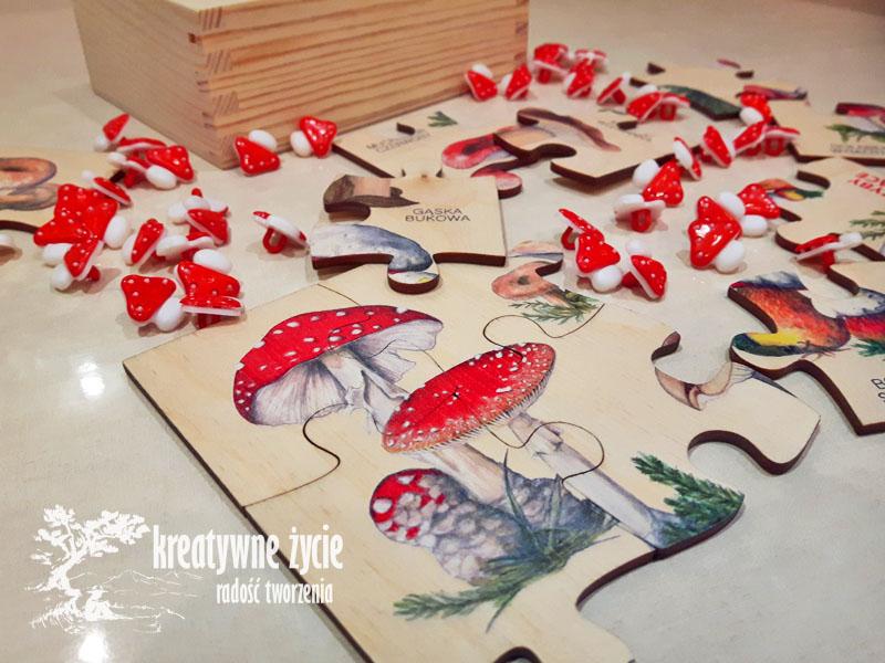 Puls Art puzzle drewniane grzyby trujące