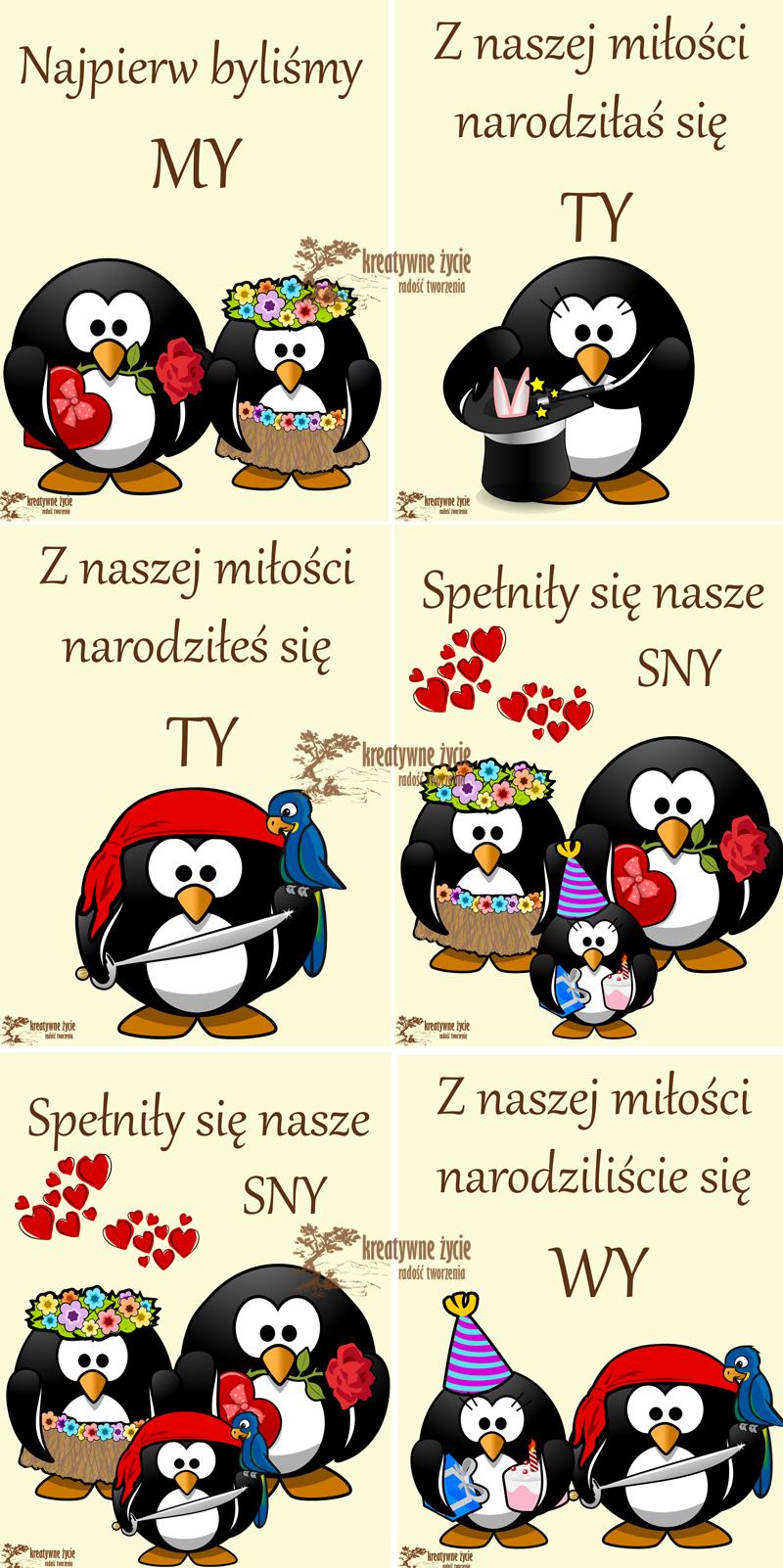Pingwinkowe plakaty do pokoju dziecka