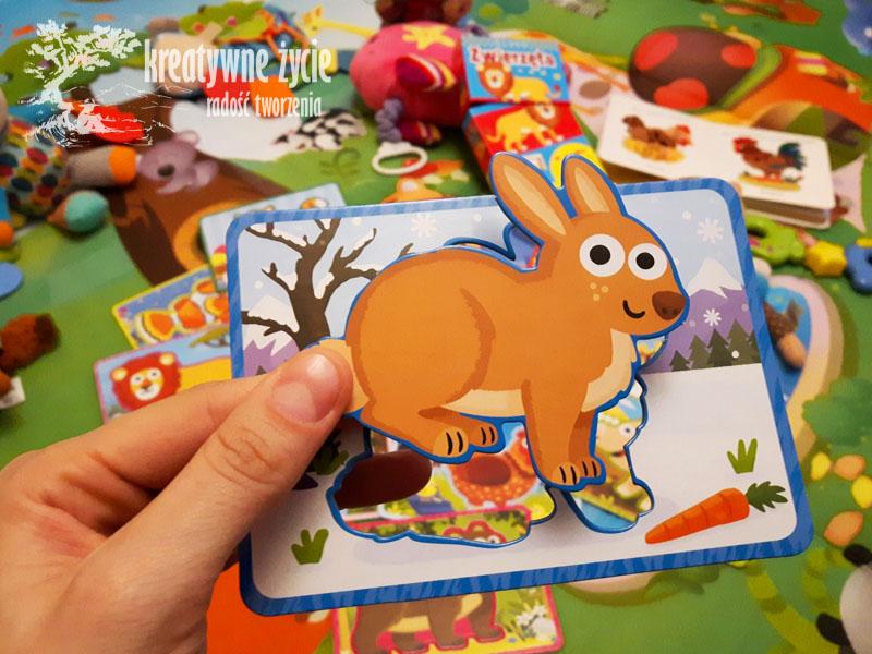 Karty Wilga z szablonami królik
