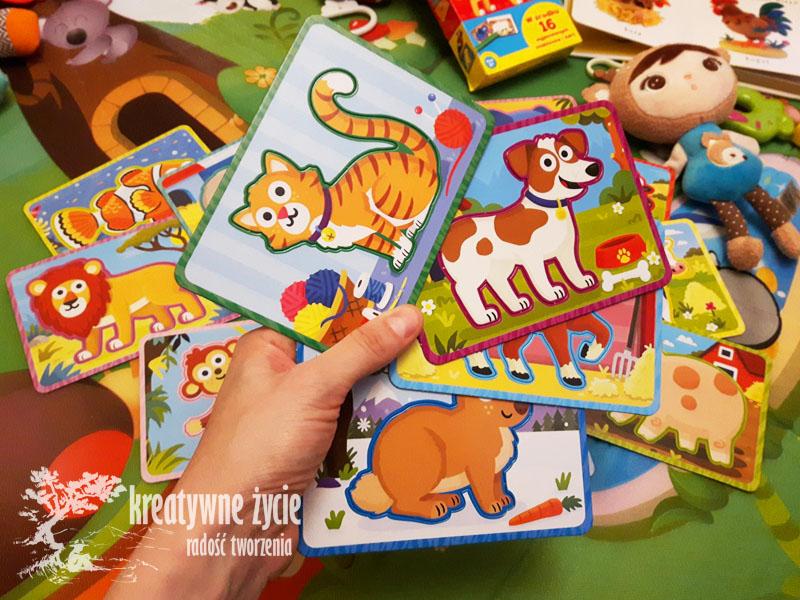 Karty Wilga z szablonami kotek