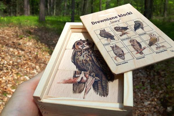 Puls Art-drewniane klocki sowy